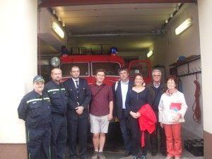 Visite de la caserne des pompiers volontaires de Velvary