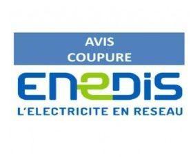 Coupure d'électricité programmée par Enedis