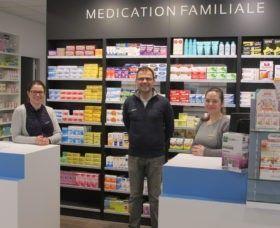 Installation de la pharmacie Tilly dans ses nouveaux locaux