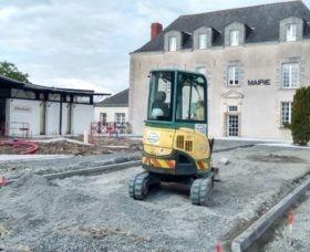 Information sur les travaux d'aménagement des abords de la mairie