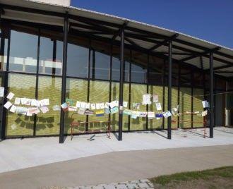 Installation éphémère devant la bibliothèque, ce jeudi 18 octobre